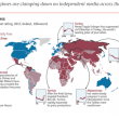 In Asia, only two countries, Taiwan and Japan, are considered to have a free press