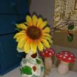 カレットと紙粘土で花瓶を作りました♪