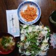 鰹のたたきサラダ+仙台笹かまぼこ+ぎょくすい+人参ナムル with 冷酒