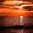冬海、夕焼け