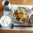 お昼ご飯は野菜炒め