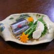 秋刀魚の煮付けとソーセージで和洋折衷