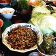 挽肉のレタス包み 夏レシピ