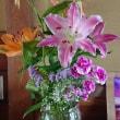 お葬式の花を頂いたので