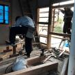 岡山市北区撫川での蔵改修現場進行状況