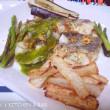 B.M.D.式 白身魚の香草焼きと野菜のグリル