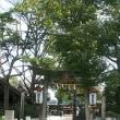 本日、「どんど焼き」 御幸森神社にて(金海)