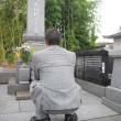 送り盆で菩提寺に行ってきました。
