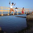 白浜でジャンプ!