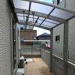 岡山市北区で物干し場のアルミテラス組立工事