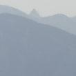 篠ノ井線から見た槍ヶ岳