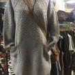 ケーブル編みから、いろいろ編み方変えてオシャレな風合い