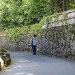 由布院温泉の散歩道で