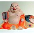 お盆に想う 日本では七福神の一柱(^^♪中国では弥勒菩薩の垂迹、大きな袋を背負った太鼓腹の僧侶「布袋さん」