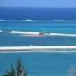 海亀が産卵に来る砂浜を荒らしまわるAAV7の走行訓練/辺野古側の護岸の様子