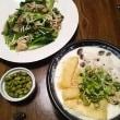 豆三(まめぞう)小鍋と緑の夜食