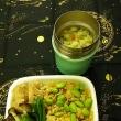 ダッシュの朝の茶色弁当:豚そぼろと生姜の炊き込みご飯