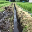 排水の掘り上げ完了