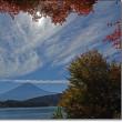 アオゲラ♂近くからの姿と河口湖・山中湖の景色を・・・