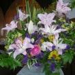 講壇を飾る花20180701