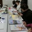 新年最初の水彩画教室