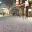 雪の京成大久保駅 (o;д;)o