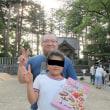 地元神社での町内対抗子供相撲大会 長女が女子高学年団体の部で優勝