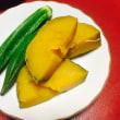 カボチャとオクラの煮物