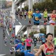 大阪マラソンの応援(写真)