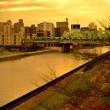 新河岸川夕景