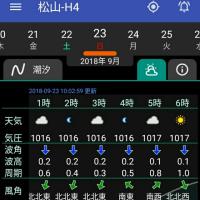 20180923(日)大潮 松山市・今出 夜釣り
