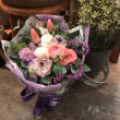 紫とピンクのお花束
