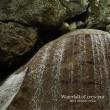 三日月の滝は大きな顔の様で