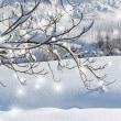 Gimpで新雪にクロスライト、朝日に輝く・・・