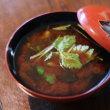 レシピ付き献立 かきフライ・お煮しめ・干しシイタケときゅうりのごま酢和え。ごま豆腐