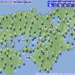 4月23日 アメダスと天気図。