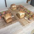 ホシノ酵母の雑穀食パンと4本編みの二色鹿の子パン