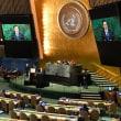 国連総会の基調演説のキーワードは、「平和」と「ろうそく」だった。「平和」をモットーとする国連という空間の象徴性と平和な変革を成し遂げた「ろうそく革命」の精神を結び付けようとした。