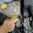llc leaking from hose of coolant expansion tank / ford fiesta