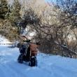 KSRでいく雪遊び