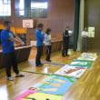 学級旗と各組団のパネルの審査が行われました。