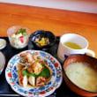 八月 お誕生会 祝い膳 (ヘルシー 豆腐入り和風ハンバーグ)