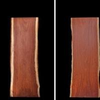 【無垢一枚板・新天板報告】 ブビンガ の 天板 ( 一枚板 )を掲載いたしました。【BB-4B-9798-H1-2】