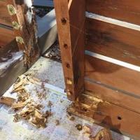外壁塗装ビフォーアフターとデッキ修理