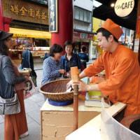 中華街では「焼栗」、イメージとしては押し売りだが、きちんと販売している店舗がおすすめ。