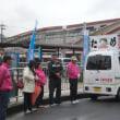 30人以上の後援会員さんと一緒に今朝松原駅からスタート。さあ頑張って 日本共産党への支持を訴えます