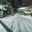 剣山は積雪3~5センチの積雪