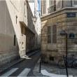パリの細い路地
