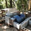 炭焼き窯の設置(ドラム缶の活用)