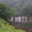 ★雨の碓氷川の流れと碓井湖の風景 2017